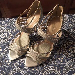 Aldo heels - silver glittery shoes