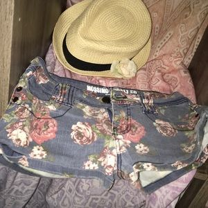 Mossimo floral jean shorts