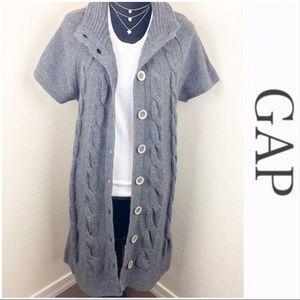 •Gap• Trench Coat Sweater
