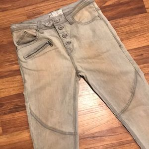 Free People Button Up Khakis