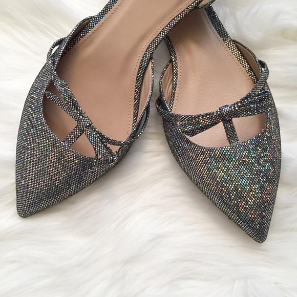 d1784ec58722 J. Crew Shoes - J. Crew Sloan glitter d Orsay flats with mini