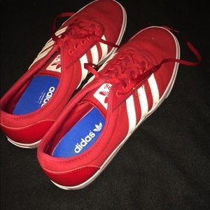 Men's red adidas sneakers
