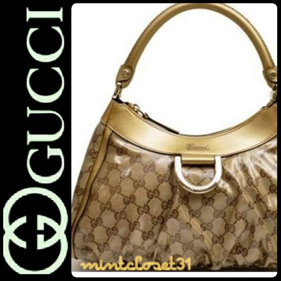 10e8aa65788 Gucci Handbags - Gucci Italy D-Ring Leather Bag