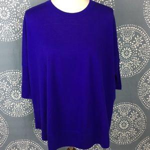 J. Crew Bright Purple Merino Wool Sweater