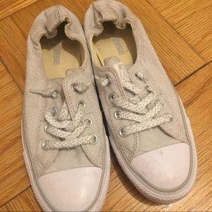 converse grey canvas sneakers
