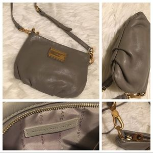 MARC By Marc Jacobs Gray crossbody w/ gold accents