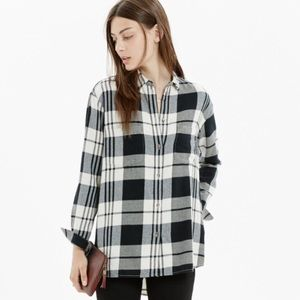 Madewell Black and White Flannel