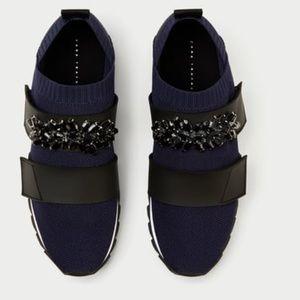 Zara Beaded Stretch Sneaker