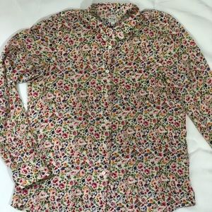 Madewell Floral Print Button Down Shirt