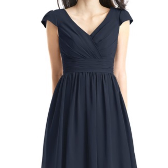 Azazie Kierra Bridesmaid Dress Short Navy Blue