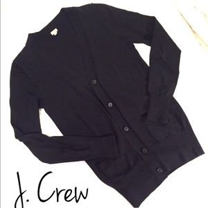J. Crew Long Black Cardigan
