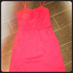 Short pocket straps dress
