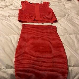 Bebe bandage two piece skirt