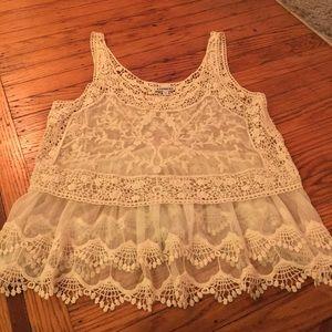 Beautiful Sheer Crocheted Top