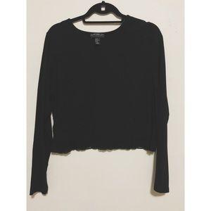 🆕🆕🆕 black lace crop top