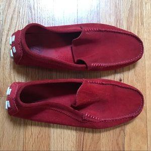 Zara Men Red Suede Loafers