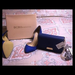 BCBG size 8 1/2 new shoes and purse