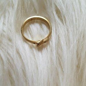 Michael Kors Gold Belt Buckle Ring