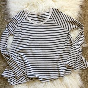 Free People flowy striped thermal top