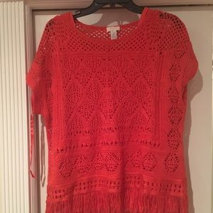 CHICOS RED BLOUSE 2 piece
