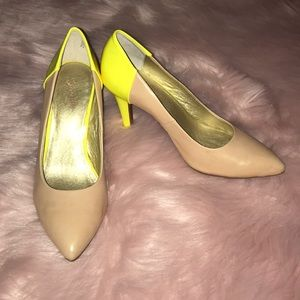 Seychelles Nude and Neon Pumps