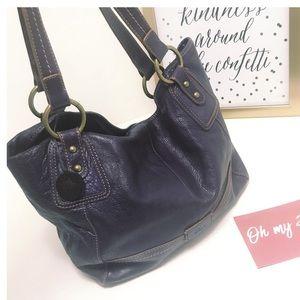 THE SAK Purple Shoulder Leather Bag
