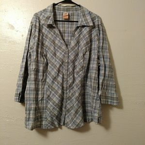 Plus size country style blouse