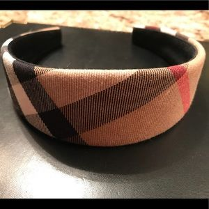 Authentic Burberry wide check headband