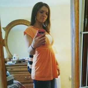 Orange Hollister Babydoll top