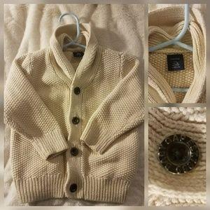 Baby Gap Posh Ivory Cream Cardigan Sweater