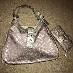 Coach purse and matching wallet.