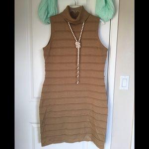 Calvin Klein camel color sweater dress