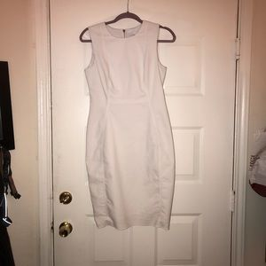 White bodycon midi Calvin Klein dress