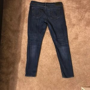 True Religion Jeans - TRUE RELIGION HALLE SUPER SKINNY MID RISE JEANS