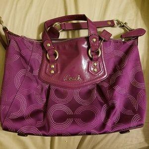 Coach purse - plum