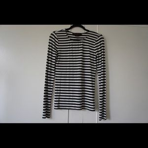 Alice + Olivia Long Sleeve Stripe Tee Small
