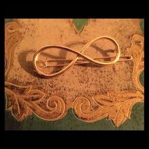 💎 Stylish Infinity women's girl golden hair clip