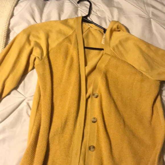 38% off Faded Glory Sweaters - Burnt Yellow Cardigan from Jacque's ...