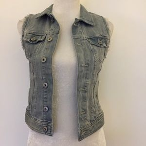 H&M Denim blue gray jean vest
