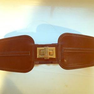 Forever21 caramel brown stretch belt. S/M. NWOT.