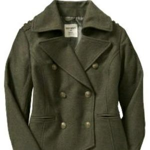 Military style pea coat
