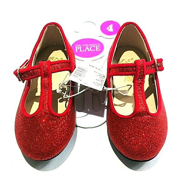 4120fb6d61a2 GIRL S RED SPARKLY SHOES