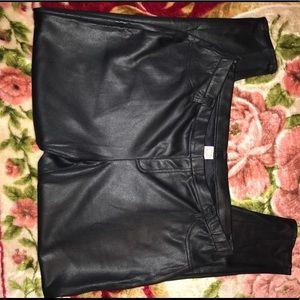 Plus Size pleather pants