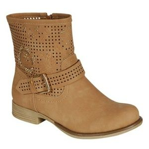 Women's Decorated Ankle Boots - Side Zipper