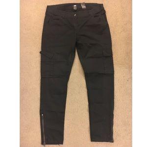 Black cargo pants