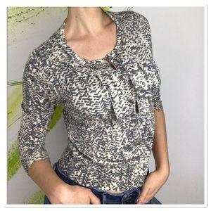 J. Crew cardigan merino wool patterned sweater