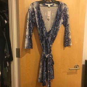 DVF wrap mini dress