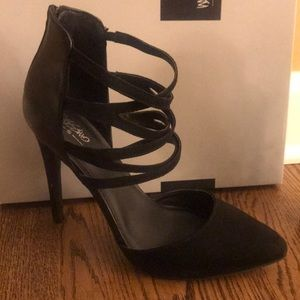Black strappy Mossimo Supply Co. 'Angie' heels
