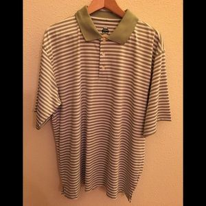 Green striped bolle golf shirt