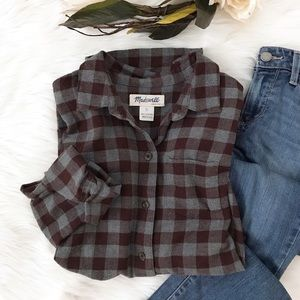Madewell Flannel in Buffalo Check